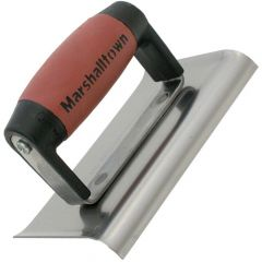 Marshalltown 6 X 4 Stainless Steel  Edger - Curved Ends 3/8R, 1/2L - DuraSoft Handle - M156SSD