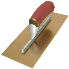 "Marshalltown Duraflex Trowel Golden Stainless Steel (Long Mounting) 13"" x 5"" - DuraSoft Handle - M4681DFDL"