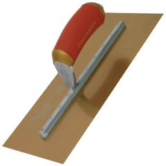 "Marshalltown Permashape Finishing Trowel 12"" x 5"" - Gold Stainless Steel Blade - MPB7GSD"
