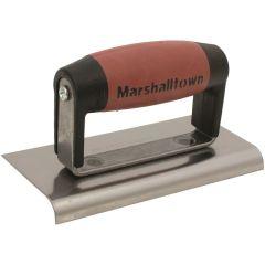 "Marshalltown Straight Edger 6"" x 3"" - Carbon Steel Blade - DuraSoft Handle - M36D"