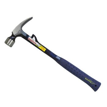 Estwing Framing Hammertooth Hammer Smooth Face 22oz - Blue Nylon Grip - E622T