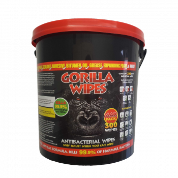 Gorilla Wipes® MAX PACK of 300 (Bucket) - Antibacterial Cleaning Wipes