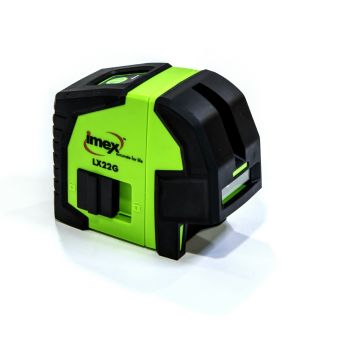 Imex Crossline laser with Plumb Green Beam with Case - 012-LX22G - 012-LX22G