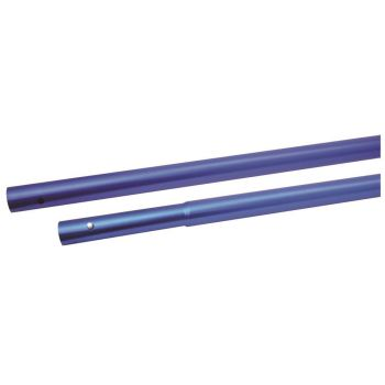 "Marshalltown 6' Push Button Handle 72"" x 1 3/8"" Diameter - Blue Aluminium - M176ASUL-L"