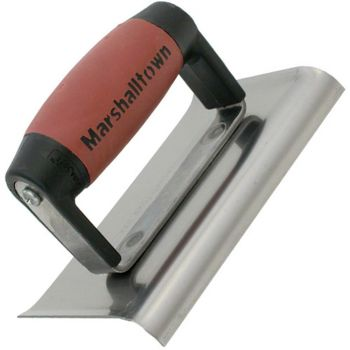 Marshalltown 6 X 4 Stainless Steel  Edger - Curved Ends 3/8R