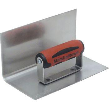 Marshalltown 8 X 4 Stainless Steel 90° Cove Step tool - DuraSoft Handle - M170SSD