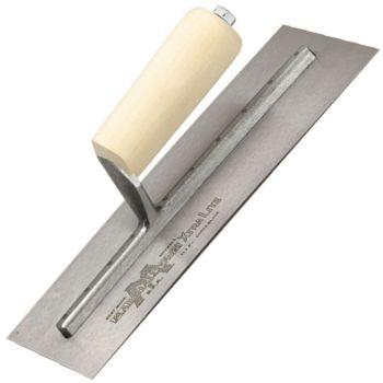 "Marshalltown Drywall Finishing Trowel - Spring Steel Blade - Wood Handle 14"" x 4½"" - M12A"