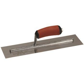 "Marshalltown Finishing Trowel 12"" x 4"" - Spring Steel Blade - Curved Durasoft Handle - MXS62D"