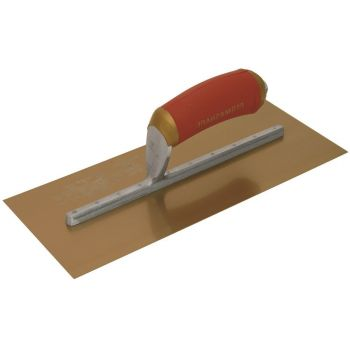 "Marshalltown Permashape Finishing Trowel 11"" x 4½"" - Gold Stainless Steel Blade - MPB1GSD"