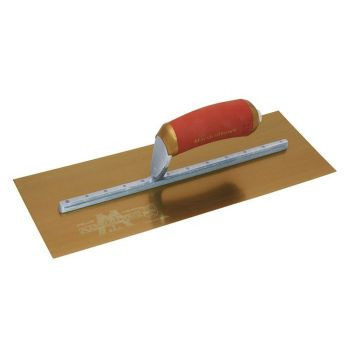 "Marshalltown Permashape Finishing Trowel 13"" x 5"" - Gold Stainless Steel Blade - MPB13GSD"