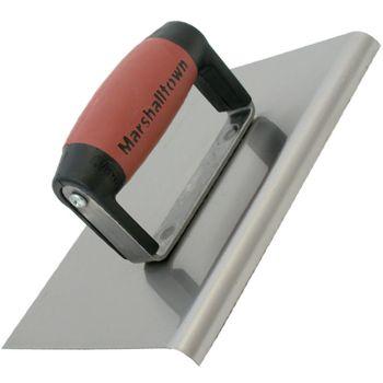"Marshalltown Straight Edger 8"" x 6"" - Carbon Steel Blade - DuraSoft Handle - M120D"