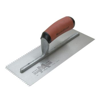"Marshalltown V Notch Trowel 1/8"" x 3/32"" - Notch Size 1/8"" x 3/32"" - Durasoft Handle - M705SD"