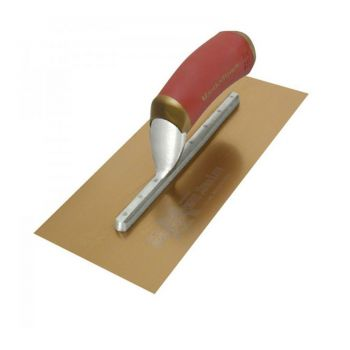 "Marshalltown Duraflex Trowel Golden Stainless Steel (Long Mounting) 13"" x 5"" - DuraSoft Handle - M4469DFD"
