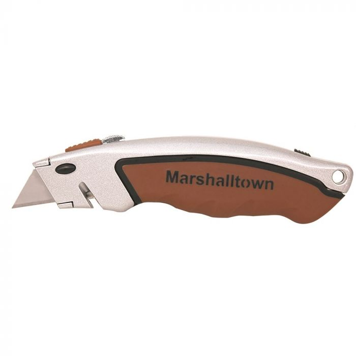 Marshalltown Utility Knife, Push Button blade release, slide storage - M9058