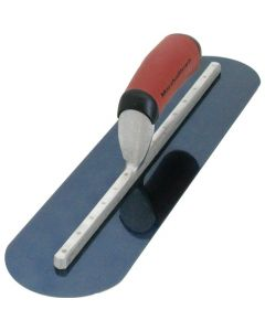 "Marshalltown 14"" x 4"" Blue Steel Finishing Trowel - Fully Rounded - Curved Durasoft Handle - MXS64BRD"