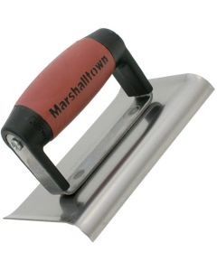 Marshalltown 6 X 3 Edger - 1 Curved and 1 Straight End 3/8R, 1/2L - DuraSoft Handle - M176D