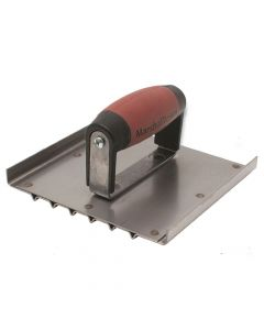 "Marshalltown 6 X 6 Stainless Steel  Safety Step Groover - 6 Grooves-1/8"" Rad - DuraSoft Handle - M4282D"