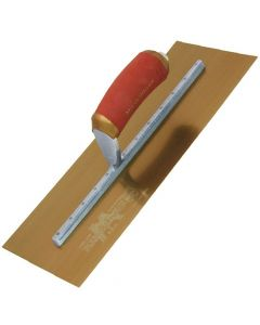 "Marshalltown Permashape Finishing Trowel 16"" x 5"" - Gold Stainless Steel Blade - MPB165GSD"