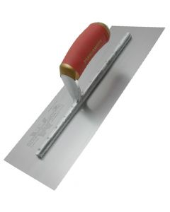 "Marshalltown Permashape Finishing Trowel 18"" x 4"" - Carbon Steel Blade - Durasoft Handle - MPB81D"