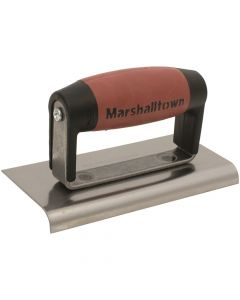 "Marshalltown Straight Edger 6"" x 3"" - Carbon Steel Blade - DuraSoft Handle - M36D"