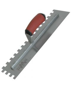 "Marshalltown U Notch Trowel - Notch Size ¼"" x ¼"" - DuraSoft Handle - M710SD"