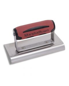 """Marshalltown Edger, Curved Ends 6"""" x 3"""" Stainless Steel - DuraSoft Handle - M136SSD"""
