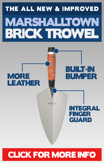 Marshalltown Leather Handled Brick Trowel