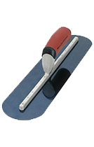 Fully Rounded Blue Steel Concrete Trowels