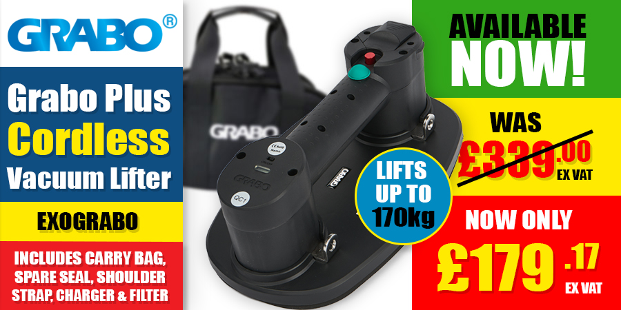Now In Stock! - Grabo Plus Cordless Vacuum Lifter!