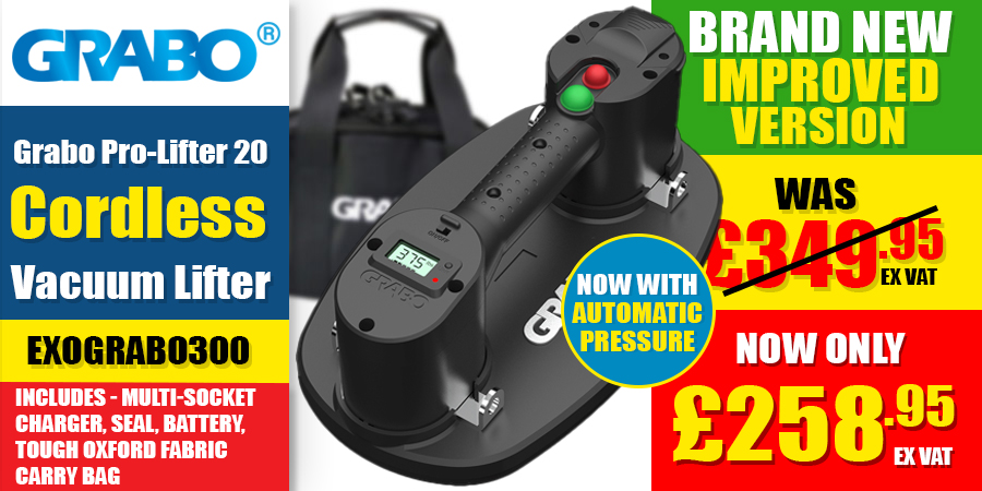 Now In Stock! - Grabo Pro Cordless Vacuum Lifter!